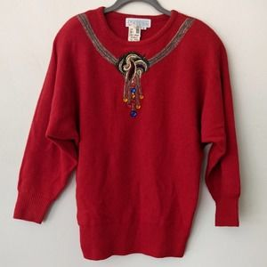 NWT The Limited Christmas beaded sweater S
